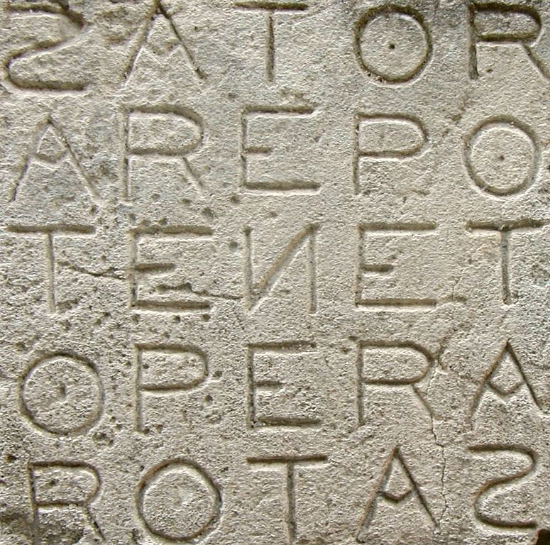 Palindrome Fun Sator Square Roman Palindrome