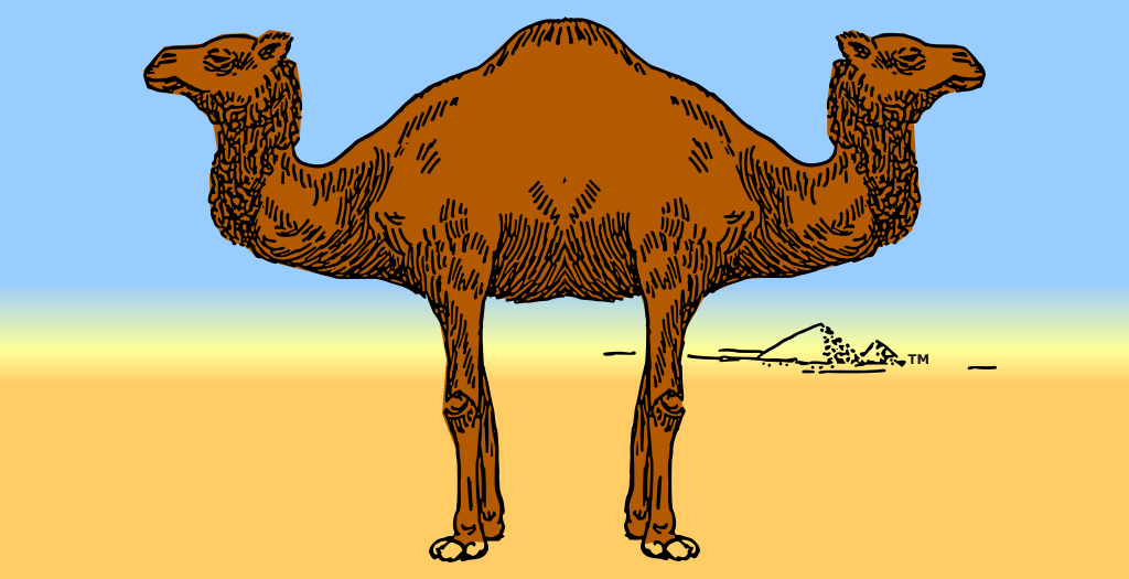 Composing Palindromes, Franklin's Palindromedary, trademark, powerfully easy palindrome composition tool, mythical beast, dromedary with a head at each end